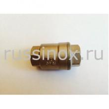 Клапан нержавеющий обратный муфтовый ( внутренняя резьба ) прямой AISI 304/316