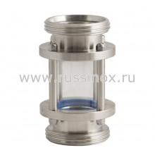Диоптр ( смотровое стекло ) соединение наружняя  резьба AISI 304/316