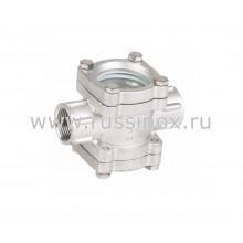 Диоптр ( смотровое стекло) соединение внутренняя резьба AISI 304/316