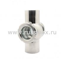 Диоптр ( смотровое стекло ) гаечный двойной AISI 304/316