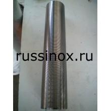 Элемент фильтрующий щелевой ( щелевая труба ) нержавеющий AISI 304 / AISI 316
