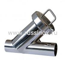 Фильтр нержавеющий молочный У-образный приварной AISI 304/316