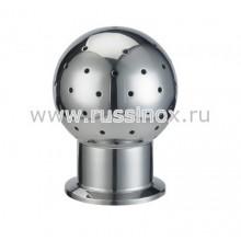 Головка шаровая моющая нержавеющая кламп-соединение AISI 304/316