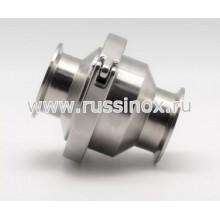 Клапан обратный нержавеющий кламп-соединение AISI 304/316