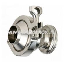 Клапан обратный нержавеющий соединение сварка-наружняя резьба AISI 304/316