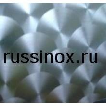 Лист шлифованный нержавеющий декорированный AISI 304/316
