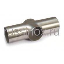 Крестовина приварная короткая нержавеющая 90гр. AISI 304/316