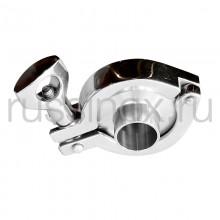 Муфта нержавеющая в сборе кламп-соединение ( приварная ) AISI 304/316