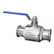 Кран шаровый нержавеющий молочный кламп-соединение AISI 304/316