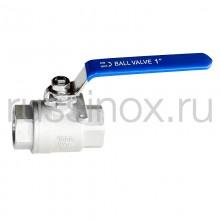 Кран шаровый нержавеющий муфтовый ( соединение внутренняя резьба ) полнопроходной  AISI 304/316
