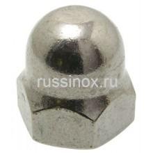 Гайка нержавеющая шестигранная колпачковая высокая AISI 304/316