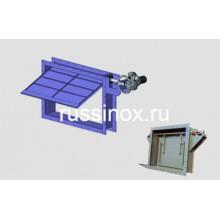 Заслонка фланцевая нержавеющая газовая одностворчатая  AISI 310 / 304 / 316