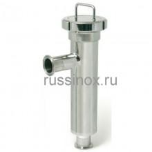 Фильтр нержавеющий угловой молочный кламп-соединение AISI 304/316