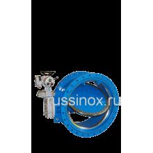 Затвор нержавеющий горизонтальный поворотный фланцевый с редуктором и электроприводом AISI 304/316