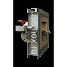 Затвор дисковый нержавеющий квадратный поворотный AISI 304 / 316 / 310