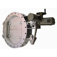 Затвор ( заслонка ) нержавеющий газовый поворотный двустворчатый фланцевый дисковый AISI 310 / AISI 304 / AISI 316