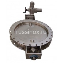 Затвор газовый дисковый нержавеющий поворотный фланцевый AISI 310 / AISI 304 / AISI 316