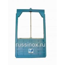 Затвор нержавеющий щитовой настенный AISI 304/316