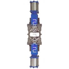 Задвижка шиберная нержавеющая межфланцевая  с оппозитным расположением ножей с пневмоприводами AISI 304/316