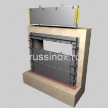 Затвор щитовой нержавеющий AISI 304/316 для каналов и дамб, систем орошения
