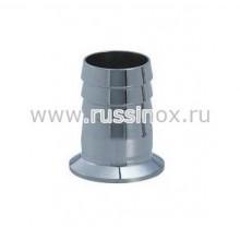 Штуцер нержавеющий шланговый кламп-соединение AISI 304 / AISI 316
