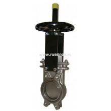 Задвижка шиберная чугунная / нержавеющая / стальная межфланцевая двусторонняя AISI 304 / AISI 316
