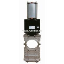 Задвижка шиберная фланцевая  двусторонняя чугунная / стальная / нержавеющая AISI 304 / AISI 316 для лёгкой промышленности