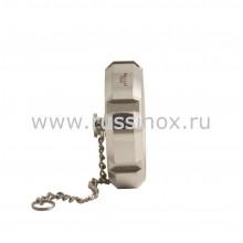 Заглушка нержавеющая с цепочкой с внутренней резьбой AISI 304/316