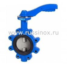 Затвор дисковый поворотный фланцевый с диском из нержавеющей стали AISI 304/316